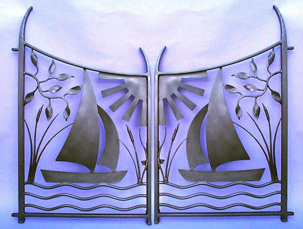 gates for gardens, sculptural gates, metal gates