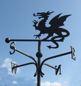 weather vane with welsh dragon