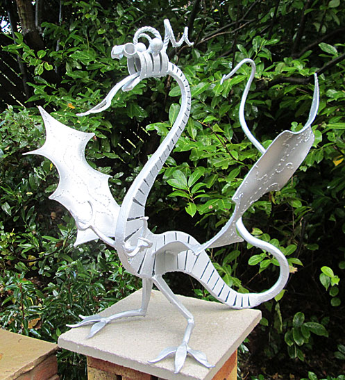 dragon sculpture, metal dragon, dragon garden sculpture, dragons, dragon art