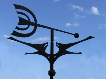 art nouveau style weather vane
