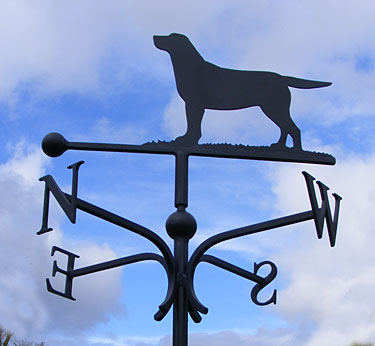 dog weather vane labrador