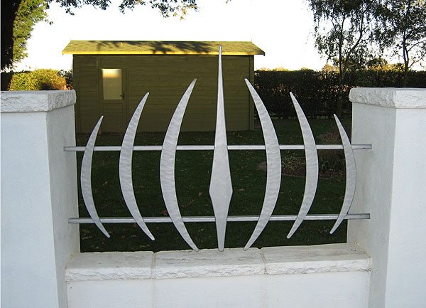contemporary forged metal railings in a modern style