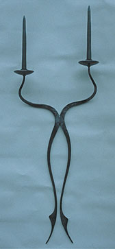 wall hanging candlestick, metal sconce