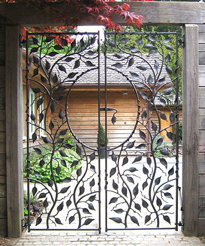 metal garden gates for a swimming pool
