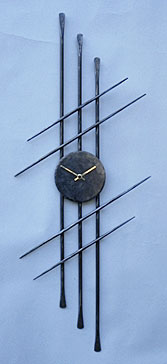 wall hanging clock in oriental style