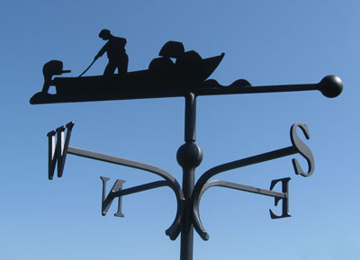 fishing boat weather vane