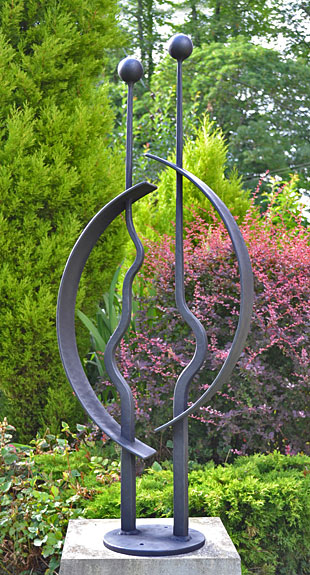 art for gardens, metal art, figurative sculpture, garden sculpture, wedding anniversary present, love sculpture, wedding gift