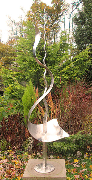 stainless steel garden sculpture, garden sculpture stainless steel, garden art