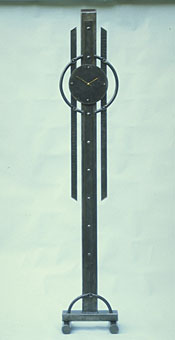 tall modern clock like a grandfather clock in celtic style
