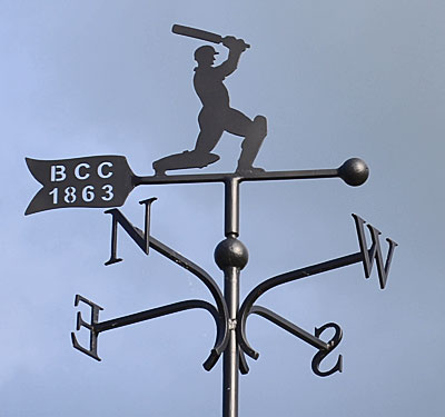 weather vane with cricket batsman